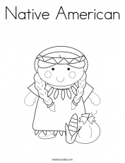 Native American Coloring Page - Coloring Pages for Kids and for Adults