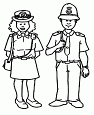 Police Officer Coloring Books - High Quality Coloring Pages