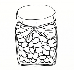 Jelly Bean Black And White Clipart - Clipart Kid