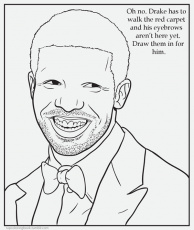 drake rapper coloring page coloring home