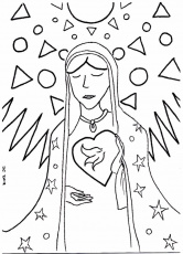 la virgen de guadalupe coloring pages virgen de guadalupe coloring