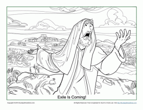 Free, Printable Exile is Coming! Coloring Page on Sunday School Zone