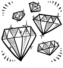 Gem coloring pages