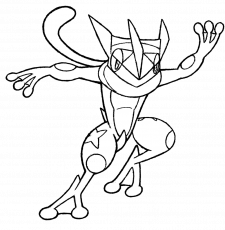 Greninja Coloring Page at GetDrawings.com | Free for ...