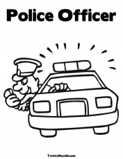 Police Pictures To Color - Coloring Pages for Kids and for Adults