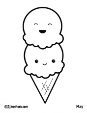 Cartoon Popsicle Coloring Page - Coloring Pages For All Ages