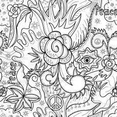 Printable Abstract Coloring Pages - Whataboutmimi.com