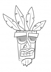 Aku Aku from Crash Bandicoot Coloring Page - Free Printable Coloring Pages  for Kids