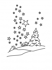 Clear Winter Night Sky With Million Of Stars Coloring Page - Download &  Print Online Coloring Pages fo… in 2020 | Star coloring pages, Coloring  pages, Online coloring pages