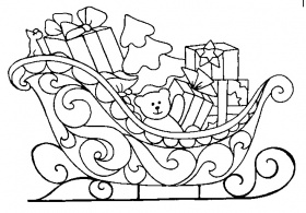 Christmas sled Coloring Pages | Crafts and Worksheets for Preschool,Toddler  and Kindergarten