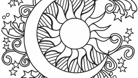 Cool Coloring Pages Sun And Moon