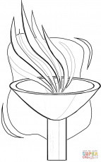 Olympic Torch Coloring Page