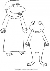 Froggy Gets Dressed Coloring Page Coloring Home