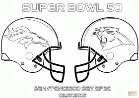 Denver Broncos Super Bowl 50 coloring page: Carolina Panthers vs. Denver Broncos Coloring page