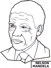 african american coloring page nelson mandela