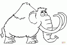 Cartoon Mammoth coloring page | Free Printable Coloring Pages