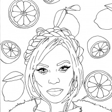 Beyonce coloring pages