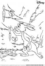 Disney Christmas Coloring Page - Winnie the Pooh Rabbit Christmas