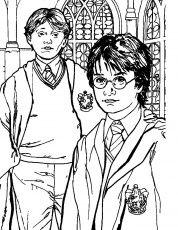 Printable Harry Potter Coloring Pages | Coloring Me