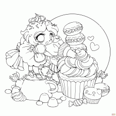Chibi Lollipop Girl coloring page | Free Printable Coloring Pages