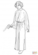 princess leia coloring pages