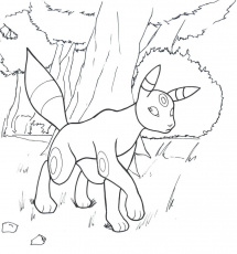 Pokemon Umbreon Coloring Page