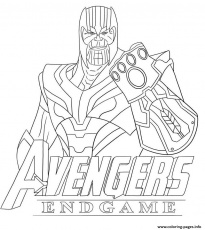 Thanos Avengers Endgame Skin From Fortnite Coloring Pages ...