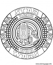 Star Wars Mandala R2d2 Coloring Pages Printable
