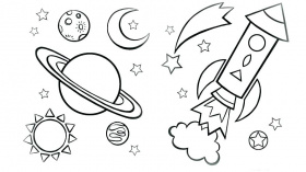 Sky Coloring Page - Imagenes