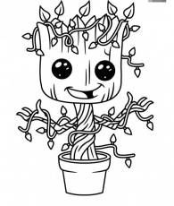 Baby Groot Coloring Page Free ...drawinginsider.com