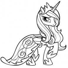 Little Pony Coloring - Coloring Pages for Kids and for Adults