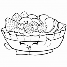 Salad coloring pages