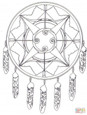 Native American Dreamcatcher Mandala coloring page | Free ...
