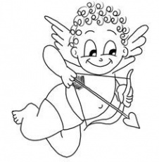 Cupid Coloring Page - Coloring Pages for Kids and for Adults