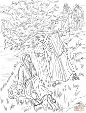 Transfiguration Of Christ Coloring Page | Free Printable Coloring ...