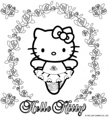 Hello Kitty To Print - Coloring Pages for Kids and for Adults