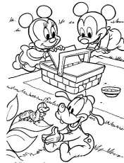 Baby Mickey Minnie Coloring Pages Cooloring Com Coloring Home