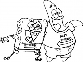 coloring pages of spongebob and patrick