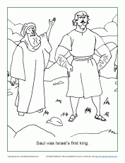 Saul Was Israel's First King Coloring Page - Children's Bible Activities |  Sunday School Activities for Kids