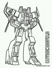 Transformers starscream coloring sheet ...pinterest.com