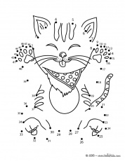 PETS dot to dot - FUNNY CAT dot to dot game | Dots game, Connect the dots  game, Coloring pages