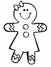 Boy Gingerbread Man Coloring Pages - Coloring Pages For All Ages