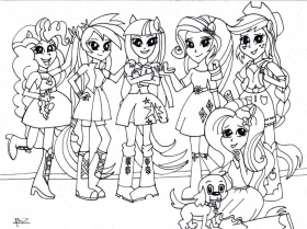 20+ Free Printable Equestria Girls Coloring Pages ...