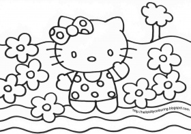 coloring page hello kitty | Only Coloring Pages