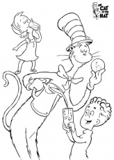 Easy to Make Cat In The Hat Coloring Sheets - Pa-g.co