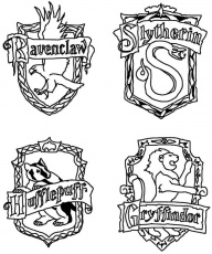 Hogwarts Crests Coloring Page