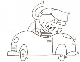 Elephant And Piggie Coloring Page - Coloring Pages for Kids and ...
