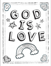 "God is Love!"" Coloring Sheet!"