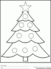 Coloring Page Christmas Tree - Coloring Pages for Kids and for Adults