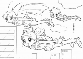 11 Pics of Ppgz Anime Coloring Pages - Powerpuff Girls Z Coloring ...